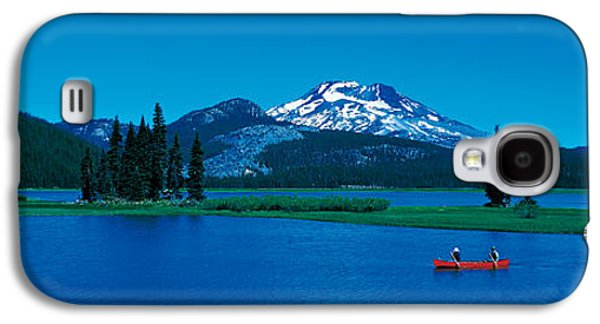 Canoeing Galaxy S4 Cases - South Sister Canoeing Sparks Lake Or Usa Galaxy S4 Case by Panoramic Images