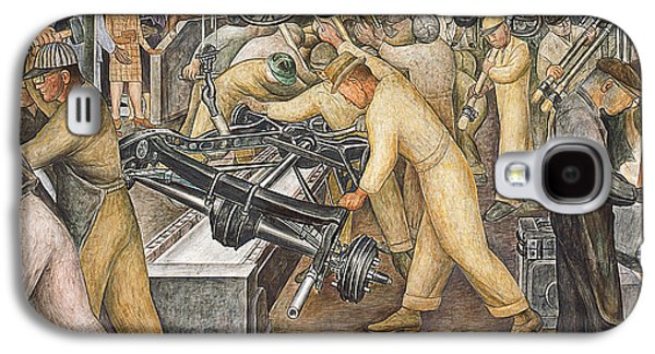 Machinery Galaxy S4 Cases - South Wall of a Mural depicting Detroit Industry Galaxy S4 Case by Diego Rivera