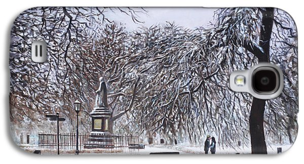 Trees In Snow Galaxy S4 Cases - Southampton Watts Park in the Snow Galaxy S4 Case by Martin Davey