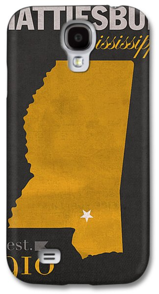 Hattiesburg Galaxy S4 Cases - Southern Mississippi Golden Eagles Hattiesburg College Town State Map Poster Series No 099 Galaxy S4 Case by Design Turnpike
