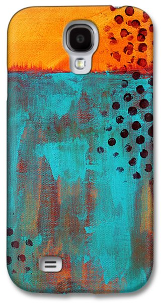 Sunset Abstract Galaxy S4 Cases - Southwestern Sky Galaxy S4 Case by Nancy Merkle