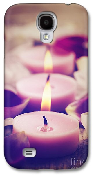 Light Pyrography Galaxy S4 Cases - Spa Candles Galaxy S4 Case by Jelena Jovanovic