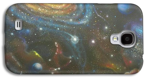 Space Dolphins Galaxy S4 Case by Darren Robinson