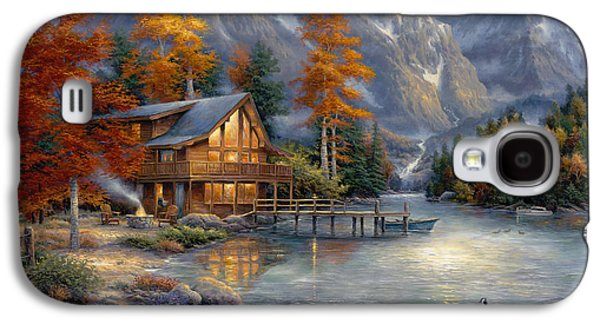 Cabins Galaxy S4 Cases - Space for Reflection Galaxy S4 Case by Chuck Pinson