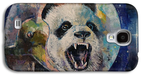 Trippy Paintings Galaxy S4 Cases - Space Panda Galaxy S4 Case by Michael Creese