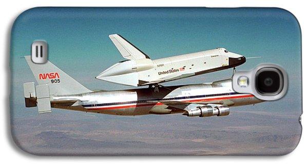 Space Shuttle Enterprise Piggyback Flight Galaxy S4 Case by Nasa