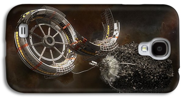 Science Fiction Mixed Media Galaxy S4 Cases - Space Station Construction Galaxy S4 Case by Bryan Versteeg