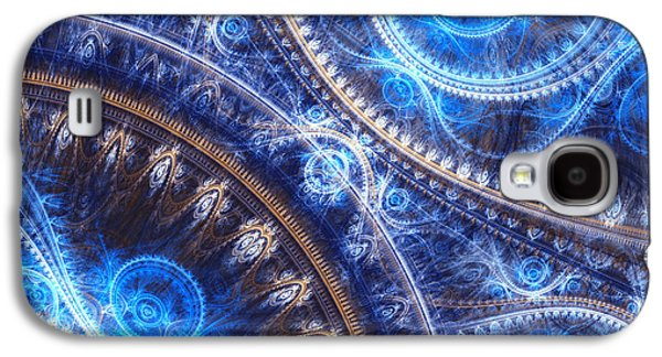 Abstract Digital Art Galaxy S4 Cases - Space-time mesh Galaxy S4 Case by Martin Capek