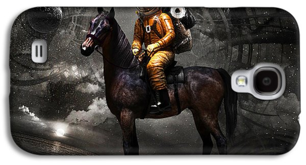 Moon Digital Galaxy S4 Cases - Space tourist Galaxy S4 Case by Vitaliy Gladkiy