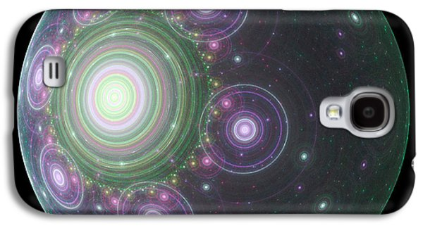 Fractal Orbs Galaxy S4 Cases - SpaceBall Galaxy S4 Case by Terry Weaver