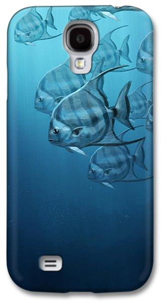 Fish Digital Art Galaxy S4 Cases - Spade Fish Galaxy S4 Case by Aaron Blaise