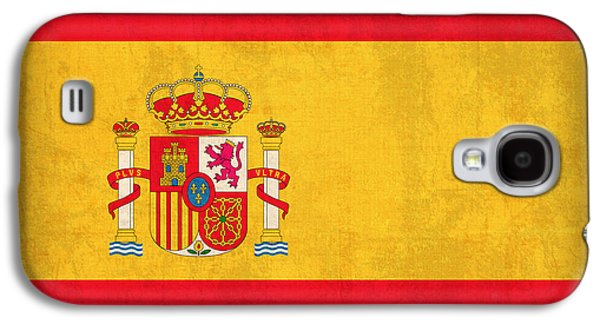 Flag Mixed Media Galaxy S4 Cases - Spain Flag Vintage Distressed Finish Galaxy S4 Case by Design Turnpike