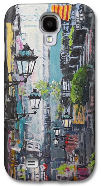 Perspective Paintings Galaxy S4 Cases - Spain Series 03 Barcelona Galaxy S4 Case by Yuriy Shevchuk