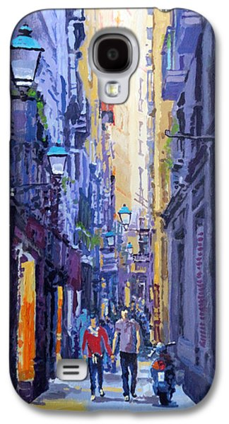 Perspective Paintings Galaxy S4 Cases - Spain Series 10 Barcelona Galaxy S4 Case by Yuriy Shevchuk
