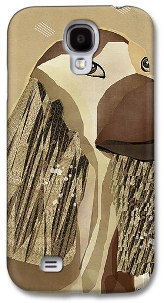 Dogs Digital Art Galaxy S4 Cases - Spaniel Dog  Galaxy S4 Case by Bri Buckley