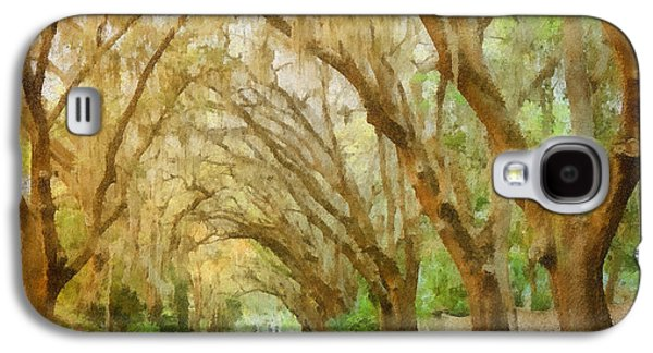 Overhang Photographs Galaxy S4 Cases - Spanish Moss - Symbol of the South Galaxy S4 Case by Christine Till