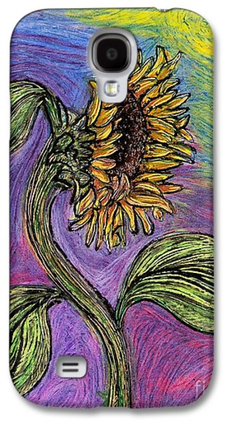 Lilacs Drawings Galaxy S4 Cases - Spanish Sunflower Galaxy S4 Case by Sarah Loft