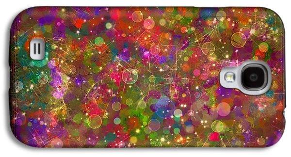 Splashy Digital Art Galaxy S4 Cases - Sparkle Garden Galaxy S4 Case by Nancy Aikins