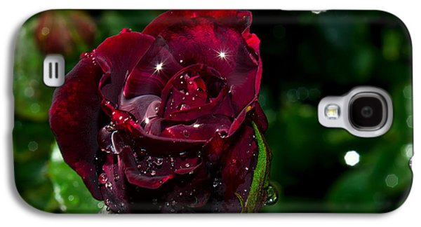 Sparkling Rose Galaxy S4 Cases - Sparkling Red Rose Galaxy S4 Case by Camille Lopez