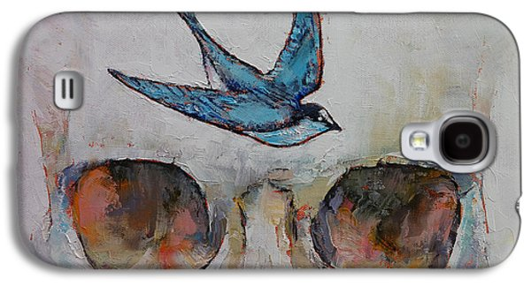 Surrealistic Paintings Galaxy S4 Cases - Sparrow Galaxy S4 Case by Michael Creese