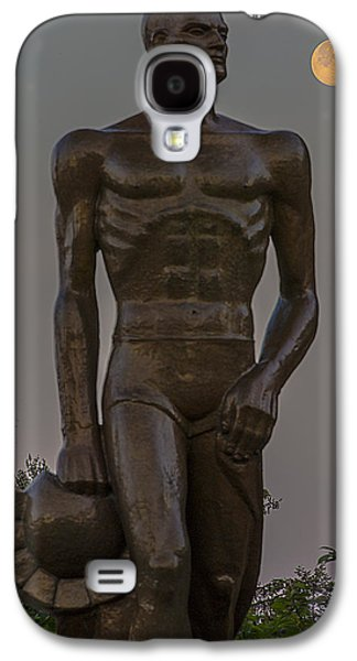 Sparty And Moon Galaxy S4 Case by John McGraw