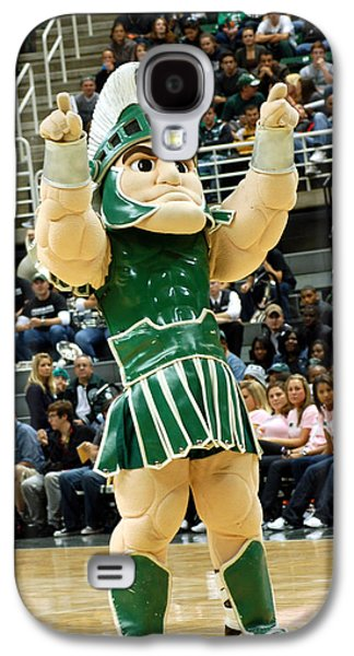 Sparty At Basketball Game  Galaxy S4 Case by John McGraw