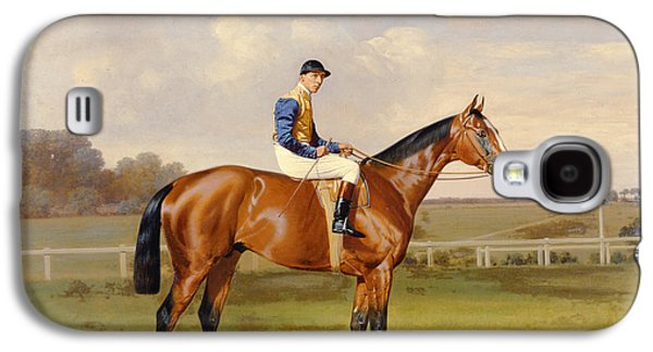 Horse Racing Galaxy S4 Cases - Spearmint Winner of the 1906 Derby Galaxy S4 Case by Emil Adam