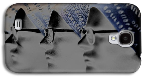 Statue Portrait Galaxy S4 Cases - Spec glasses  Galaxy S4 Case by Toppart Sweden