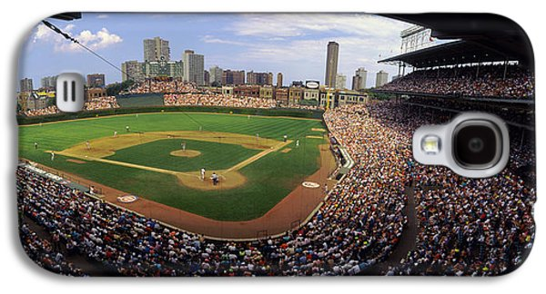 Wrigley Field Galaxy S4 Cases - Spectators In A Stadium, Wrigley Field Galaxy S4 Case by Panoramic Images