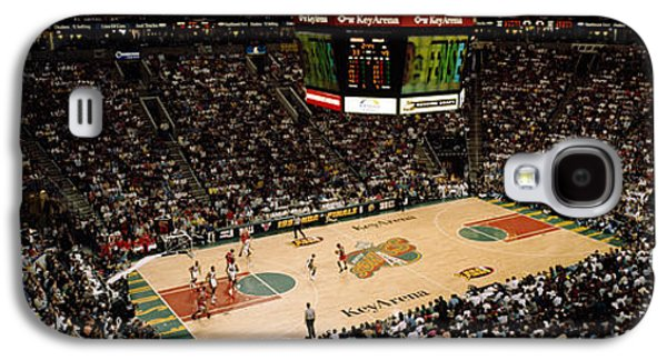 Sports Photographs Galaxy S4 Cases - Spectators Watching A Basketball Match Galaxy S4 Case by Panoramic Images