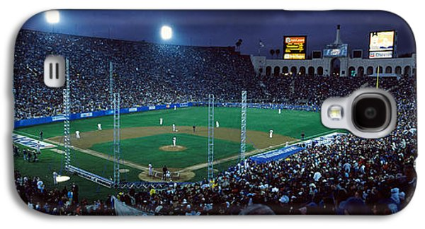 Sports Photographs Galaxy S4 Cases - Spectators Watching Baseball Match, Los Galaxy S4 Case by Panoramic Images