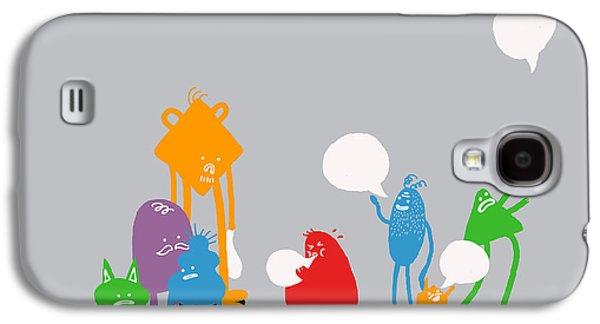Monster Galaxy S4 Cases - Speech Bubble Galaxy S4 Case by Budi Satria Kwan