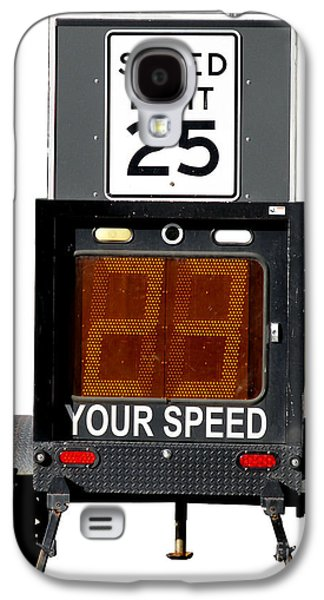 Police Traffic Control Galaxy S4 Cases - Speed Limit Monitor Galaxy S4 Case by Olivier Le Queinec