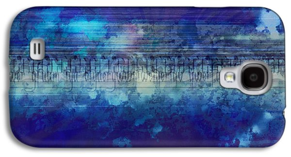 Abstract Digital Mixed Media Galaxy S4 Cases - Speed Of Thought Galaxy S4 Case by Bedros Awak