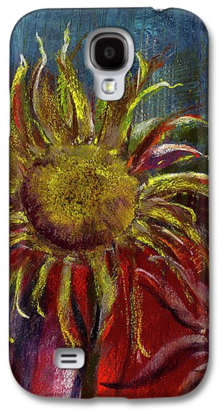 Floral Pastels Galaxy S4 Cases - Spent Sunflower Galaxy S4 Case by David Patterson