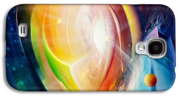 Macrocosm Paintings Galaxy S4 Cases - Sphere B11 Galaxy S4 Case by Drazen Pavlovic