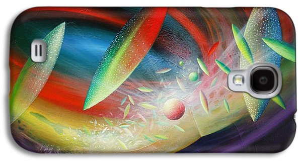 Macrocosm Paintings Galaxy S4 Cases - Sphere B12 Galaxy S4 Case by Drazen Pavlovic