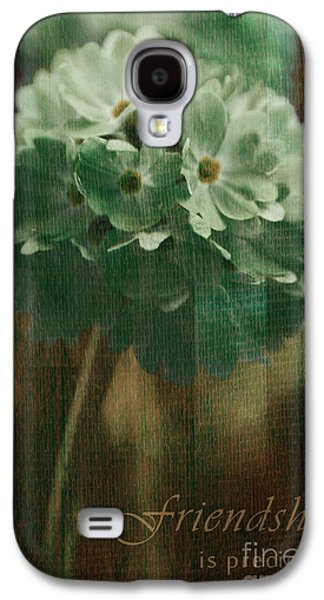 Flower Design Photographs Galaxy S4 Cases - Sphere Floral - gr83t3xt2 - Frienship Galaxy S4 Case by Variance Collections