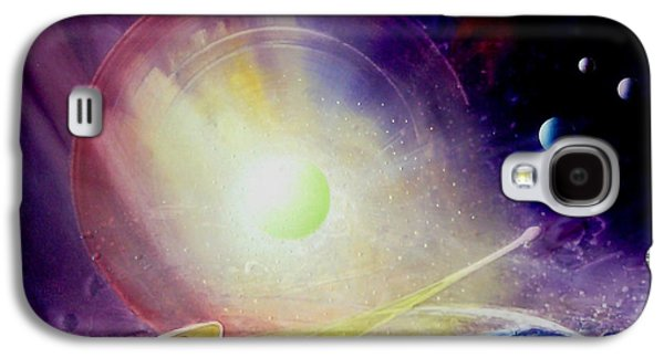 Macrocosm Paintings Galaxy S4 Cases - Sphere Lt Galaxy S4 Case by Drazen Pavlovic