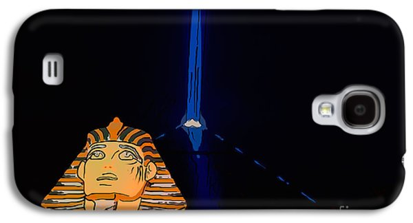 The Strip Galaxy S4 Cases - Sphinx and Luxor Hotel Beam Las Vegas - Pop Art Style Galaxy S4 Case by Ian Monk
