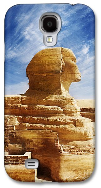Ancient Pyrography Galaxy S4 Cases - Sphinx Galaxy S4 Case by Jelena Jovanovic
