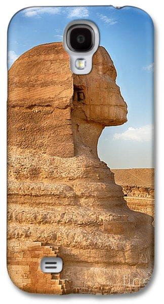 Pharaoh Galaxy S4 Cases - Sphinx profile Galaxy S4 Case by Jane Rix
