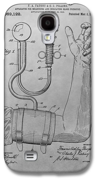 Blood Drawings Galaxy S4 Cases - Sphygmomanometer Patent Drawing Galaxy S4 Case by Dan Sproul