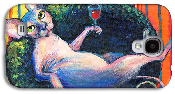 Austin Drawings Galaxy S4 Cases - Sphynx cat relaxing Galaxy S4 Case by Svetlana Novikova