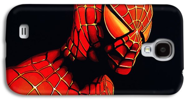 work Paintings Galaxy S4 Cases - Spider-Man Galaxy S4 Case by Paul Meijering