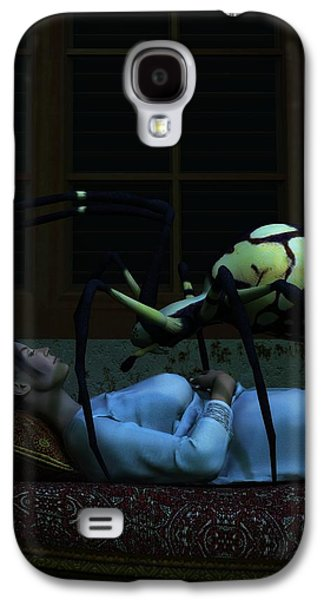 Nightmare Digital Art Galaxy S4 Cases - Spider Nightmare Galaxy S4 Case by Daniel Eskridge