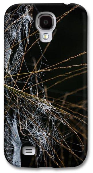 Creepy Galaxy S4 Cases - Web Patterns Galaxy S4 Case by Mario Morales Rubi