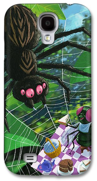 Creepy Digital Art Galaxy S4 Cases - Spider Picnic Galaxy S4 Case by Martin Davey