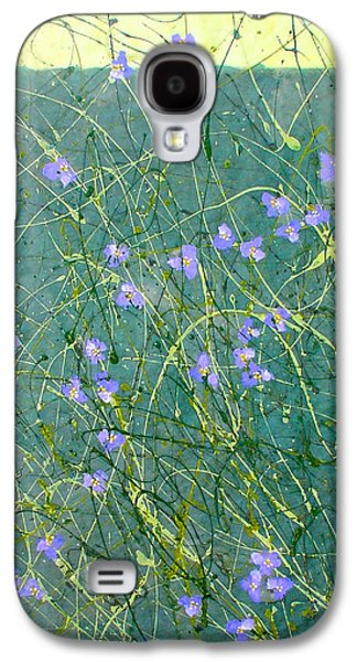 Nature Abstract Galaxy S4 Cases - Spiderwort Galaxy S4 Case by Marilee OGorman