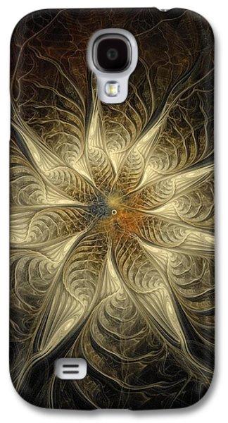 Floral Digital Art Digital Art Galaxy S4 Cases - Spidery Galaxy S4 Case by Amanda Moore
